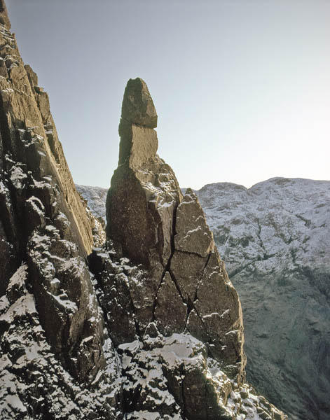 Napes Needle, a rock pinnacle.